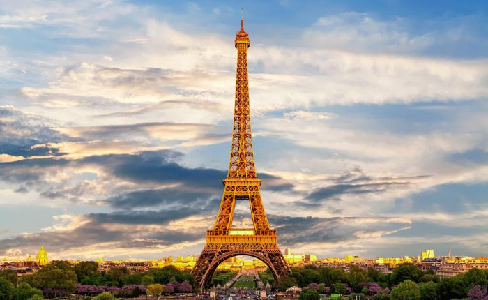 Der Eiffelturm in Paris