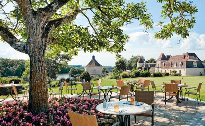 Terrasse im Schlosshotel