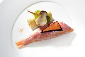 Fischgericht im Sternerestaurant